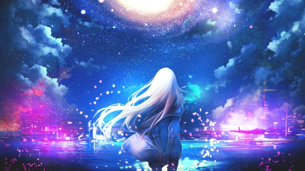 anime-white-hair-anime-girls-night-sky-stars-colorful-1920x1080